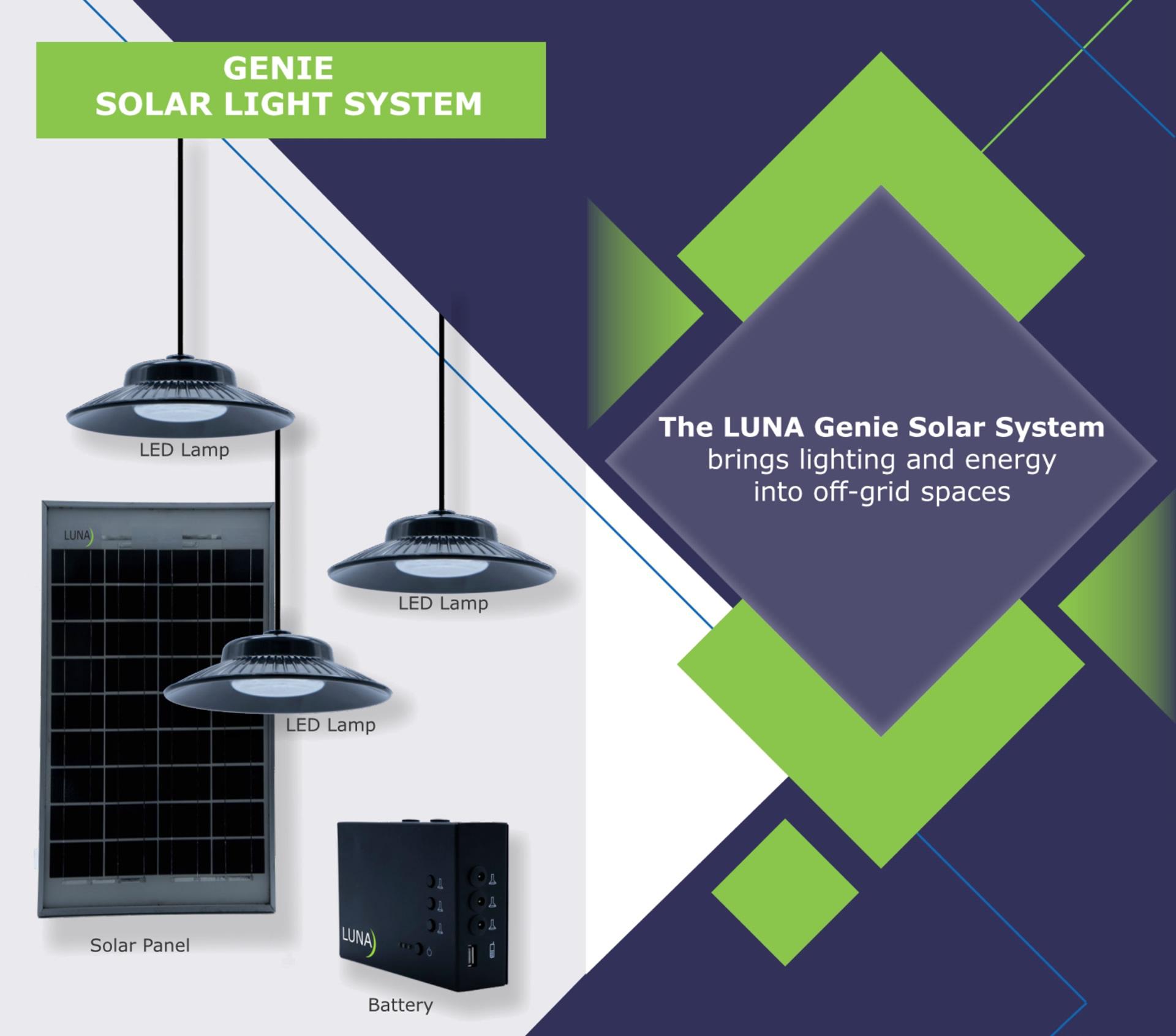 Luna Genie Portable Off Grid Solar Light System