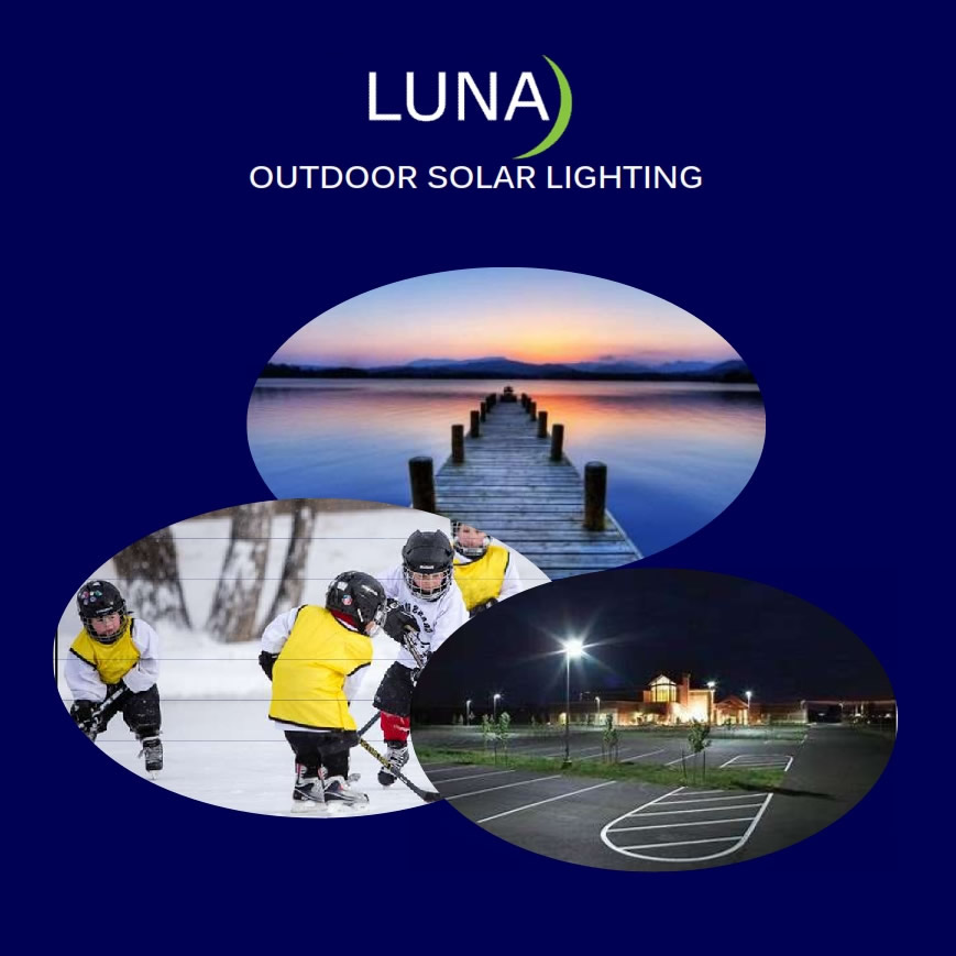 Luna Outdoor Solar Lighting Solutions, Home, Play, Work, Canada Sensors Technology Inc.